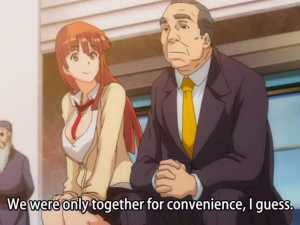 Redhead Girl Talks With Hentai Old Man - Sei Yariman Gekuen Enkou Nikki