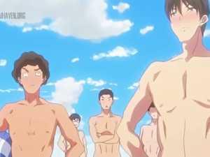 Topless Hentai Guys - Nudist Beach Ni Shuugakuryokou De #1
