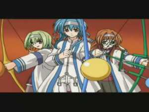 Three Hentai Girls - Daiakuji #1